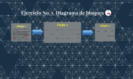 Ejercicio No. 1. Diagrama de bloques