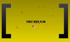 Three Week Plan/TImeline