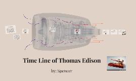 Time Line of Thomas Edison