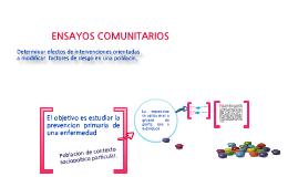 ENSAYOS COMUNITARIOS