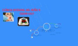 CLÍNICA INTEGRAL DEL NIÑO II