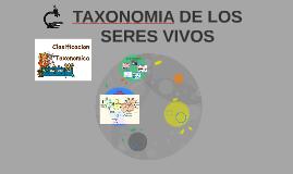 TAXONOMIA DE LOS SERES VIVOS