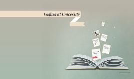 English at University