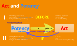 Act and Potency