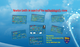 In search of the methodologist's stone
