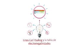 Linus Carl Pauling y la tabla de electronegatividades