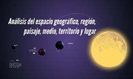 Análisis del espacio geográfico, región, paisaje, medio, ter