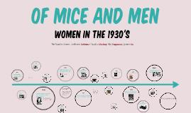 Of Mice and Men: Roles of Women in 1930s