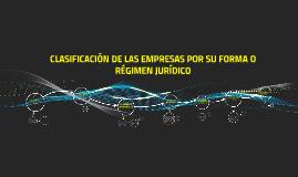 Copy of CLASIFICACIÓN POR SU FORMA O RÉGIMEN JURÍDICO