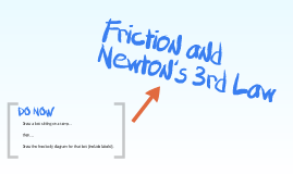 Friction and Newton's 3rd Law