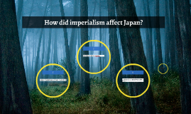 How did imperialism affect Japan?