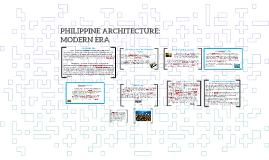 PHILIPPINE ARCHITECTURE: