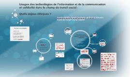 Éthique et TIC - AIFRIS
