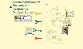 Accommodations for Students with Dysgraphia in STEAM