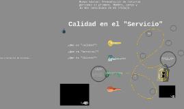 """Calidad en el """"Servicio al Cliente"""""""