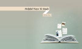 Helpful Ways To Study
