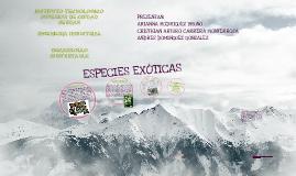 ESPECIES EXOTICAS