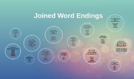 Joined Word Endings