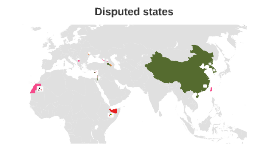 Disputed states