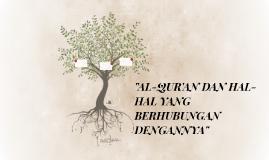 """AL-QUR'AN DAN HAL-HAL YANG BERHUBUNGAN DENGANNYA"""""""