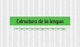 Copy of Estructura de la lengua