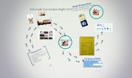 3rd Grade Curriculum Night 2015
