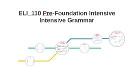 ELI_110 Pre-Foundation Intensive
