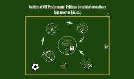 Copy of Análisis al MEF Postprimaria. Políticas de calidad educativa