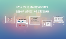 FALL 2015 GROUP ADVISING SESSION