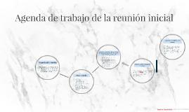 Copy of Agenda de trabajo de la reunión inicial