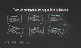 Tipos de personalidades según Test de Holland