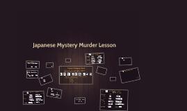 Japanese Murder Mystery Lesson