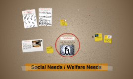 Social Needs / Welfare Needs