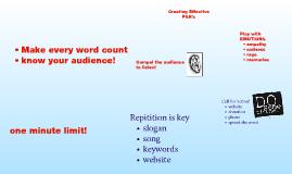 Creating Effective PSAs