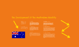 Development of the Australian Identity