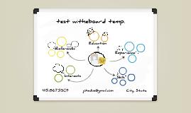 White Board Prezumé by Gyorgy Berenyi
