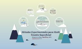 Métodos Experimentales para Medir Tensión Superficial