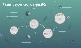Fases de control de gestión