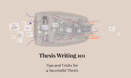 Thesis Writing 101