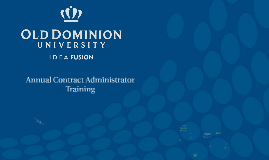 Annual Contract Administrator Training