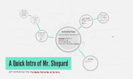 A Quick Intro of Mr. Shepard