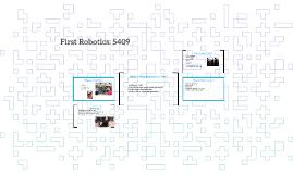 First Robotics: 5409