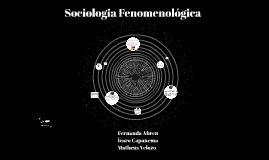 Sociologia Fenomenológica