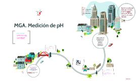MGA. Medición de pH