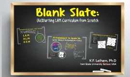 Blank Slate:  (Re)Starting LAM Curriculum from Scratch