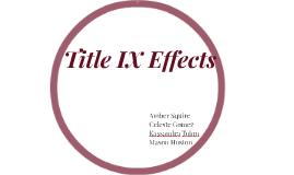Title IX Effects