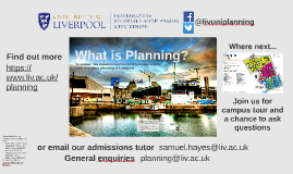 Planning at Liverpool