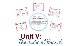 Unit V: The Judicial Branch