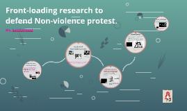 Writing a proficient ECR defending Non-violence