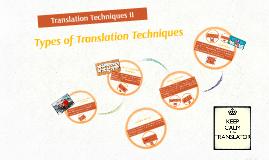 Translations Techniques